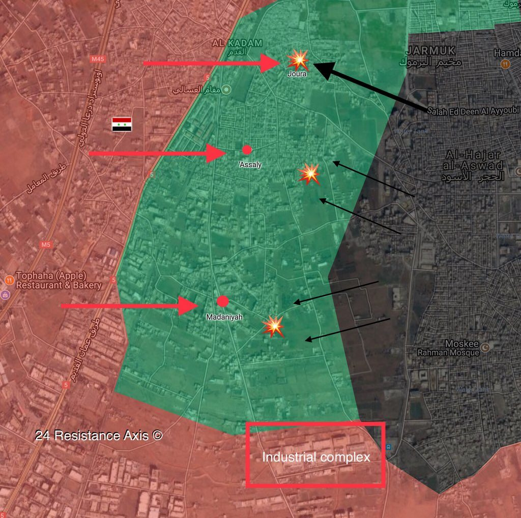Government Forces Establish Control Over Al-Qadam In Southern Damascus