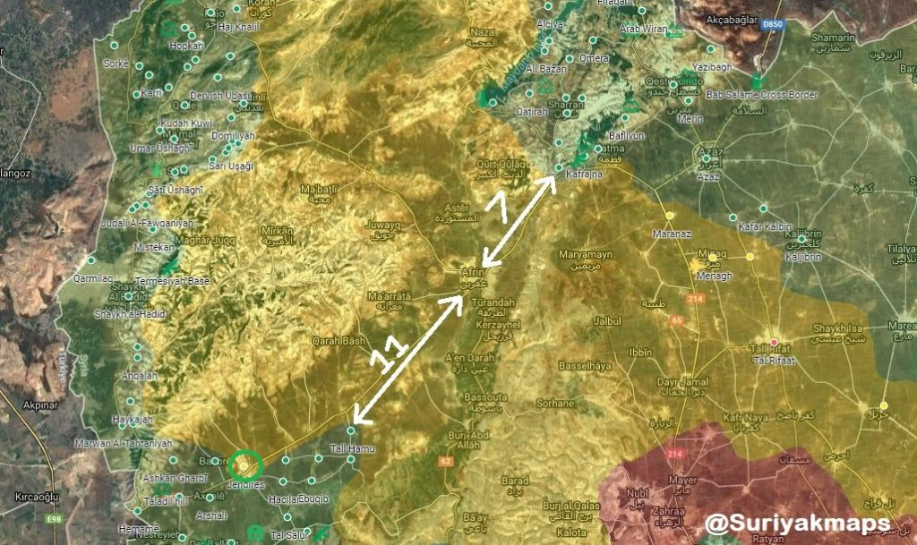 Overview Of Military Situation In Afrin On March 8, 2018 (Map, Video, Photos)