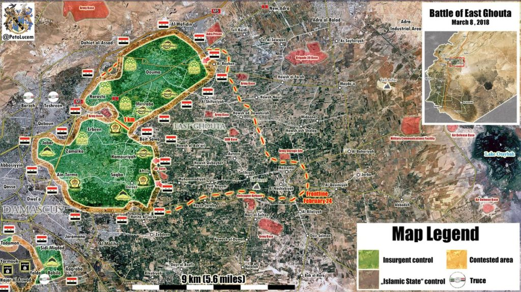 In Maps: Government Forces Liberated About Half Of Eastern Ghouta From Militants
