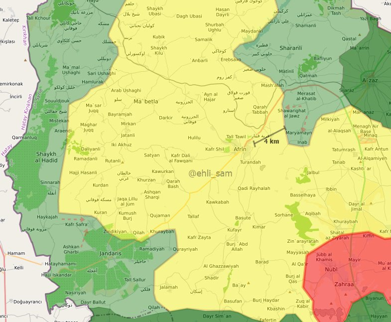 Overview Of Battle For Afrin On March 10, 2018 (Map, Videos)