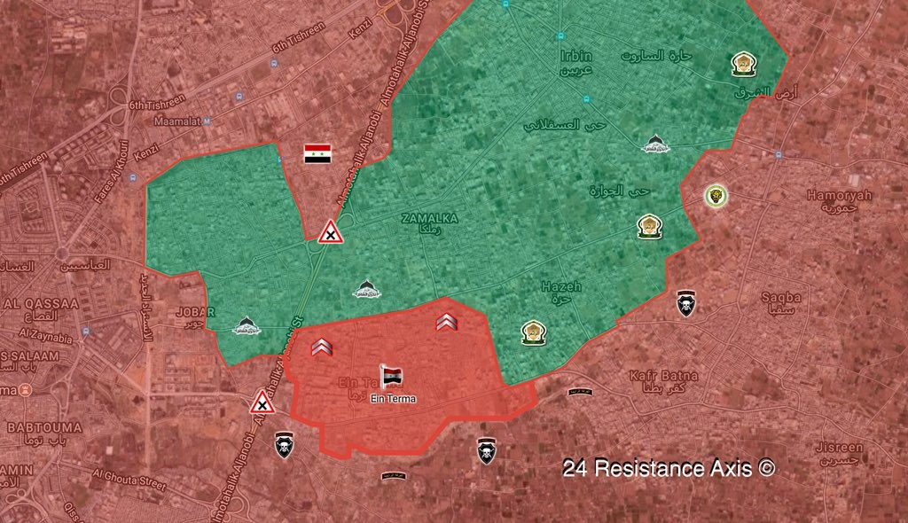 Overview Of Battle For Eastern Ghouta On March 24, 2018 (Maps, Video, Photos)