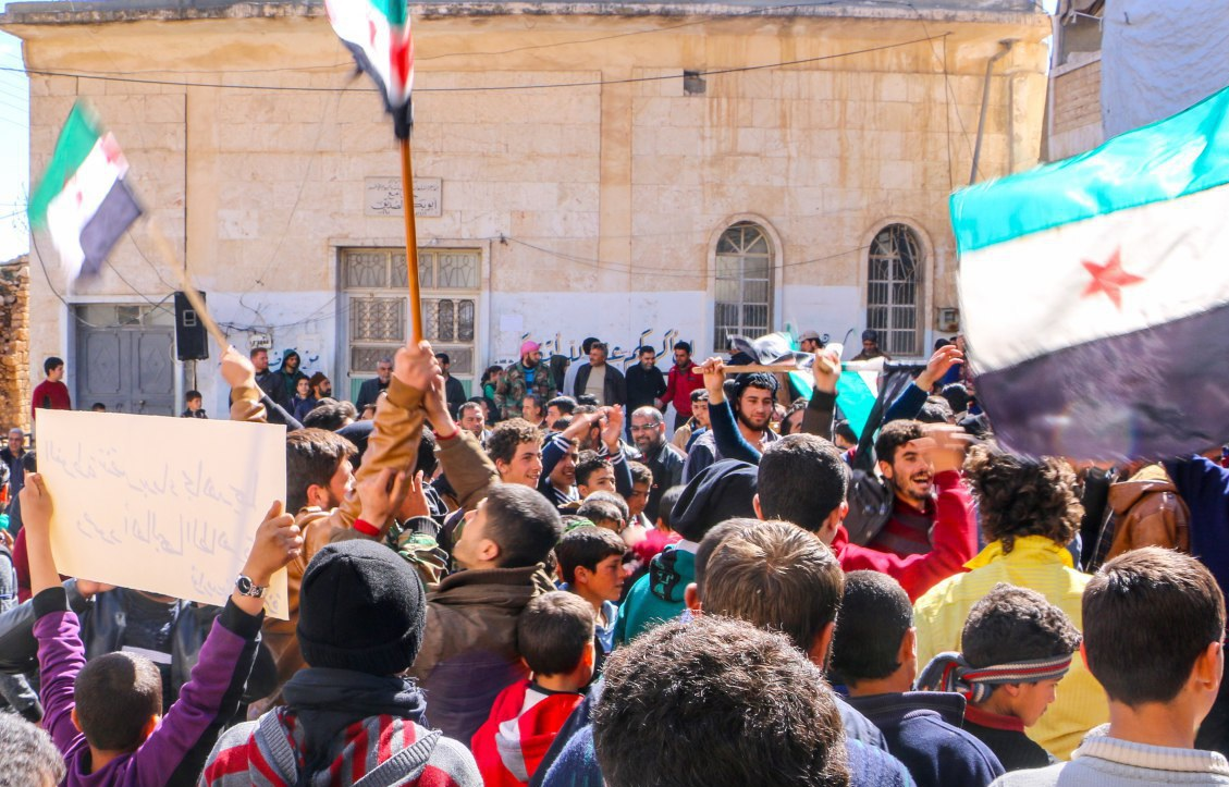 Civilians Protest Against Hay'at Tahrir al-Sham In Southern Syria
