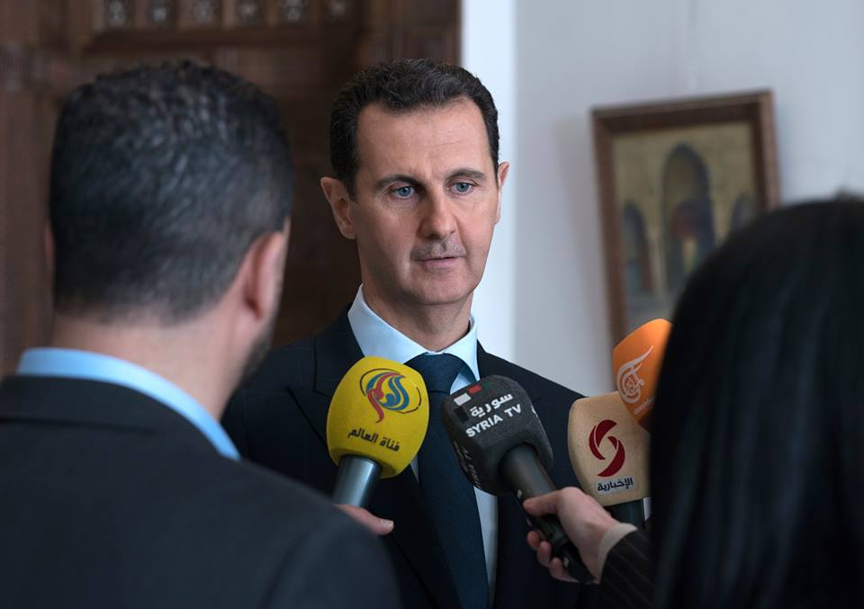 """Assad: Allegations About Chemical Attacks In East Ghotua Are Part Of Western """"Dictionary Of Lies"""""""