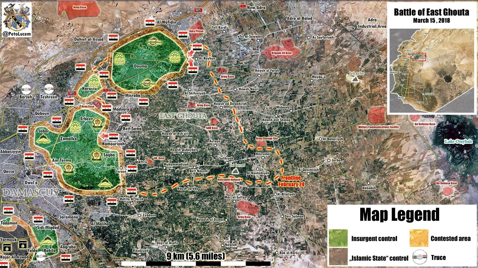 Syrian Army Captures Another Town In Eastern Ghouta From Jaysh al-Islam (Map)