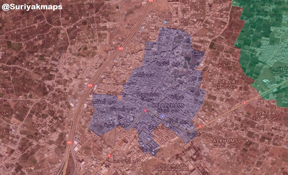 Overview Of Battle For Eastern Ghouta On March 22, 2018 (Map, Videos, Photos)