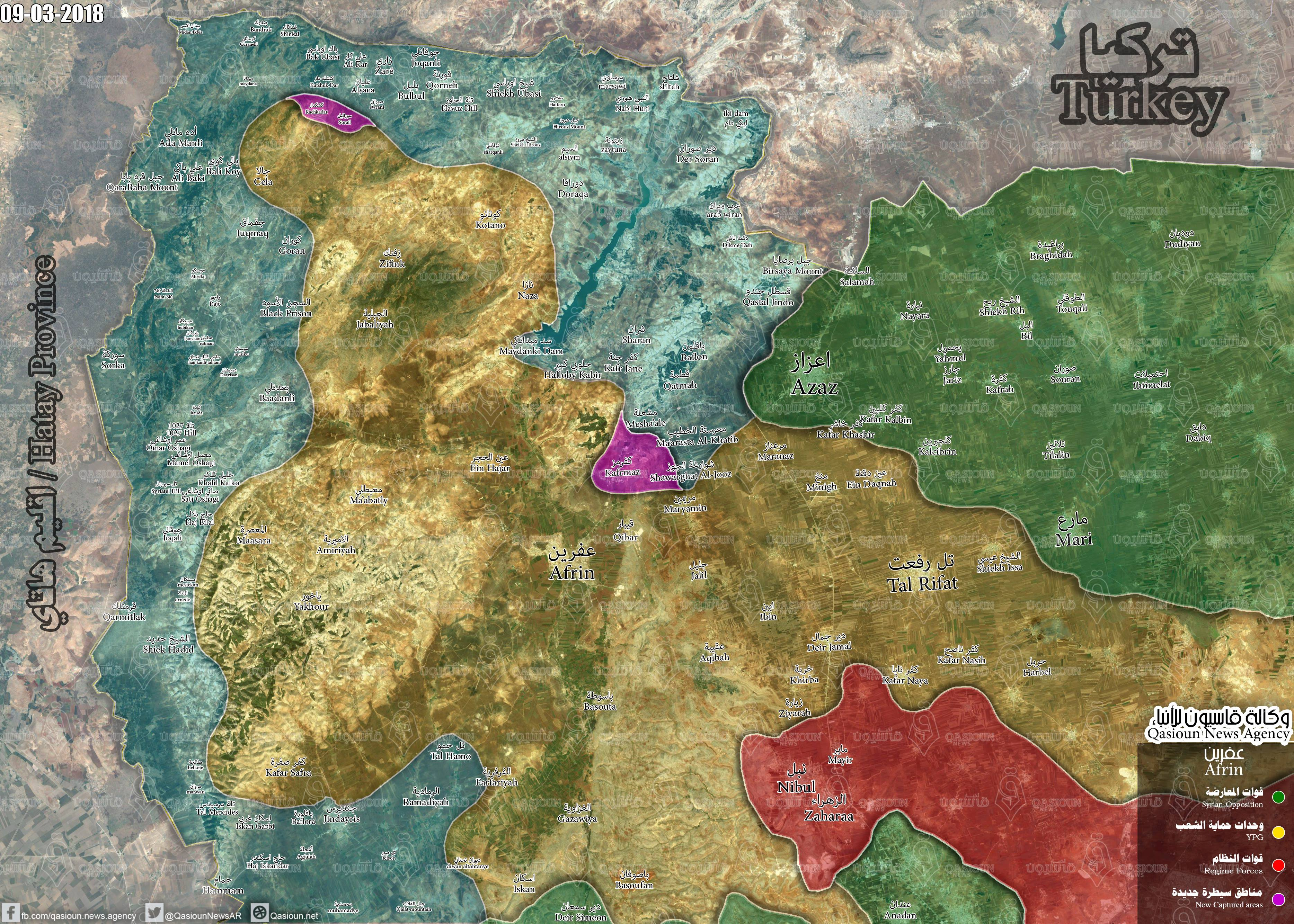 Turkish Army Makes New Gains Against YPG North Of Afrin City (Map, Photos, Video)