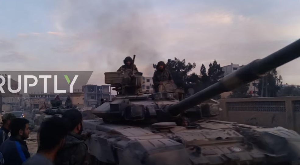 Video: Syrian Army Deploys Russian-made T-90 Battle Tanks For Eastern Ghouta Battle