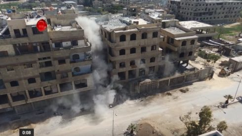 Video: Syrian Army Blows Up Large HQ Of Faylaq al-Rahman In Hazeh Town Of Eastern Ghotua
