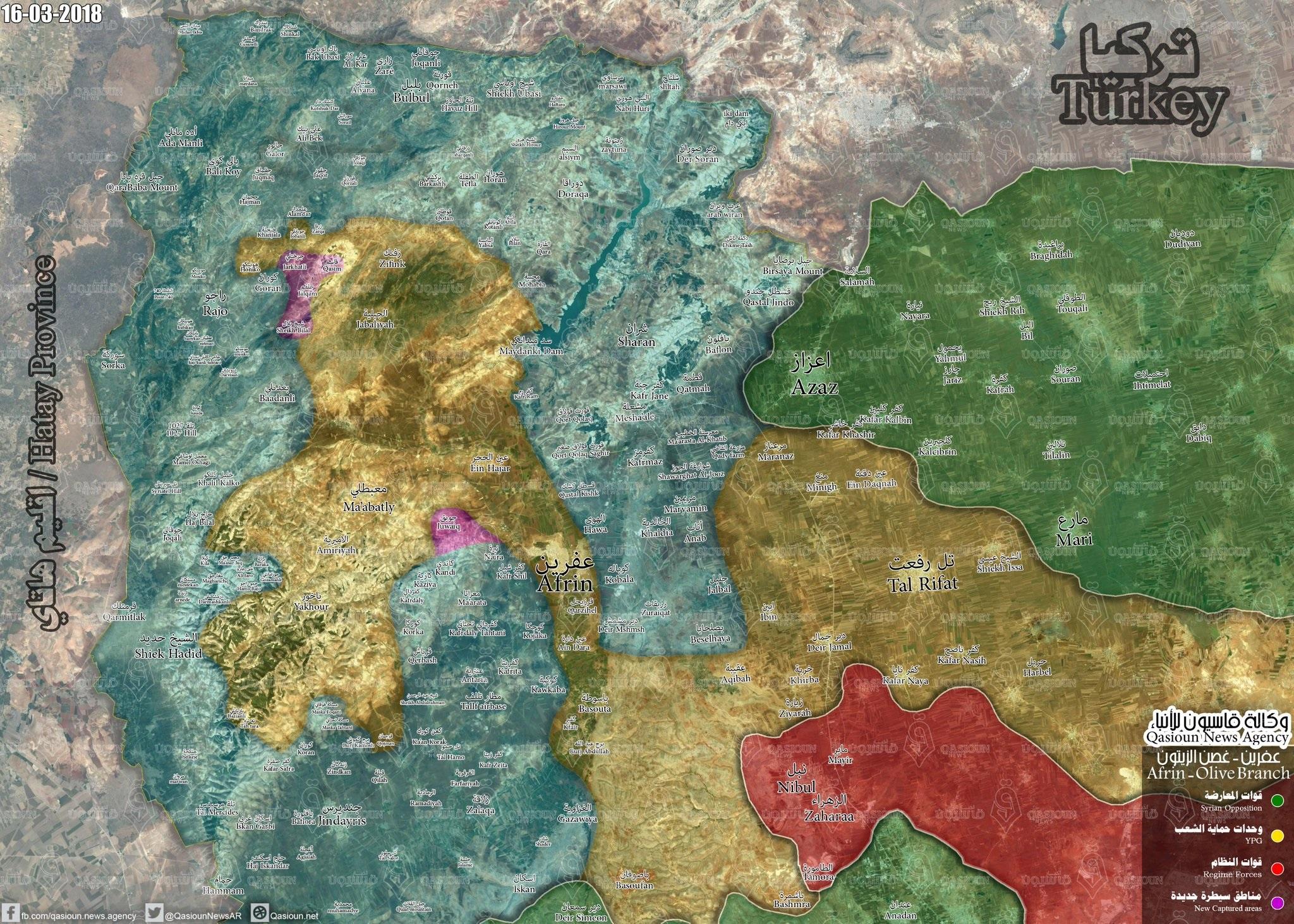 Turkish Army Captures Eleven Villages Northwest Of Afrin (Map, Video)
