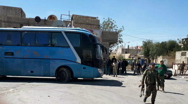 1,065 Militants And Their Family Members Left Douma Town In Eastern Ghouta - Media
