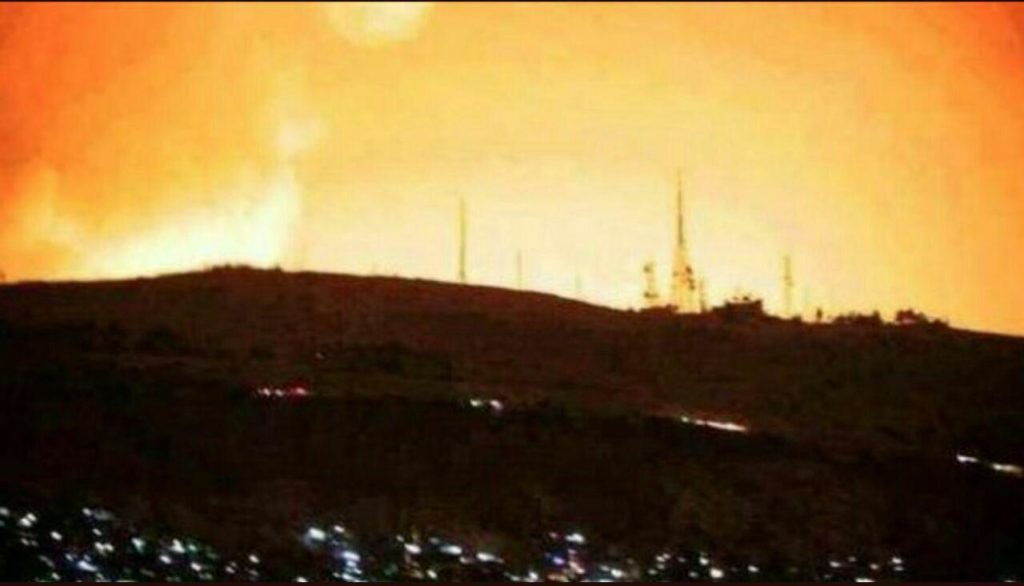 """Over 100 Missiles Launched, """"Most Of Them"""" Intercepted By Syrian Forces (Photos, Videos)"""