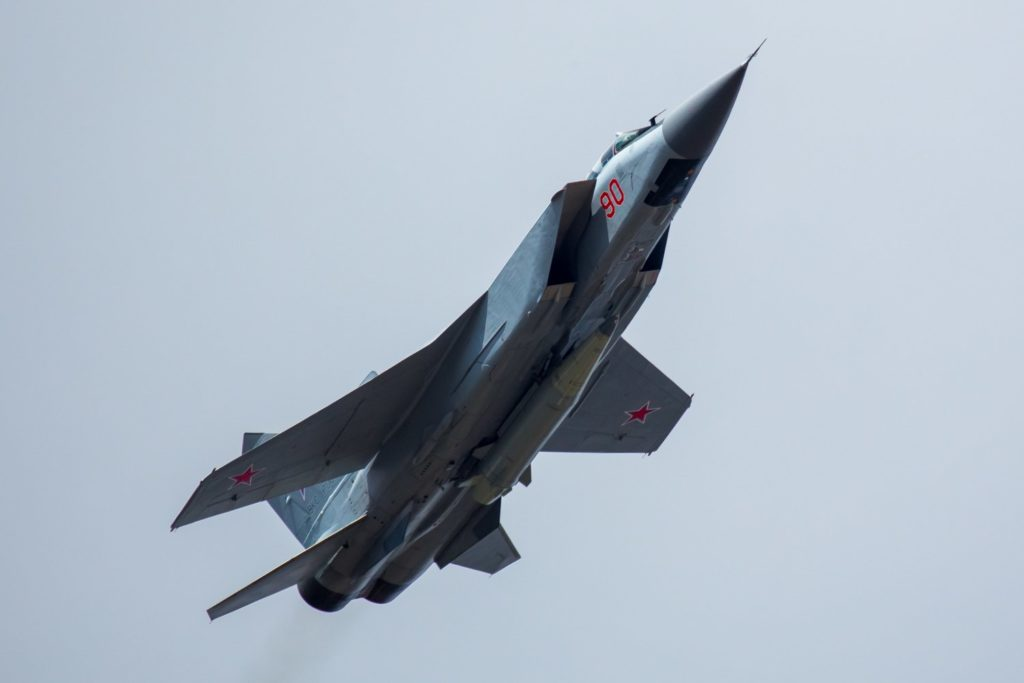 In Photo: Russia's MiG-31 Jet Armed With Kinzhal (Dagger) Hypersonic Nuclear Missile
