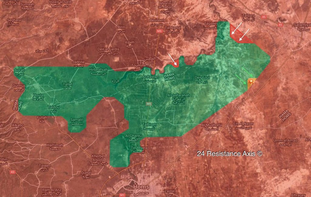 Map Update: Progress Of Syrian Army's Operation In Rastan Pocket