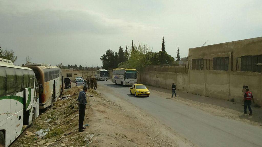 Second Batch Of Militants Prepare For Evacuation From Douma - SANA
