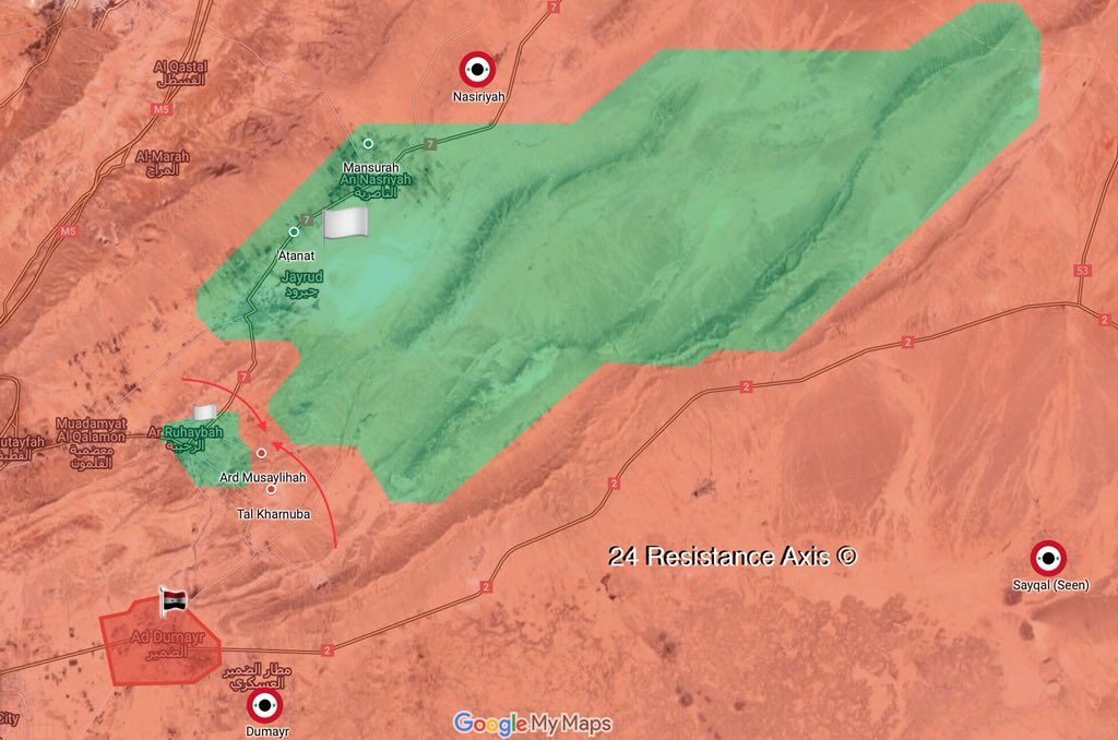 Government Forces Established Full Control Of al-Dumayr In Central Syria (Map)