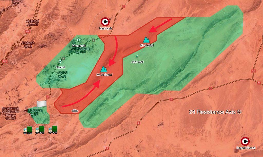 Map Update: Tiger Forces Capture Al-Batra, Al-Afai Mountains In Eastern Qalamoun