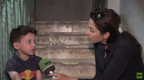 RT Interviews Boy From Douma 'Chemical Attack' Footage