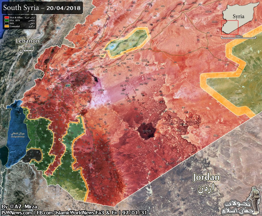 Map Update: Military Situation In Southern Syria