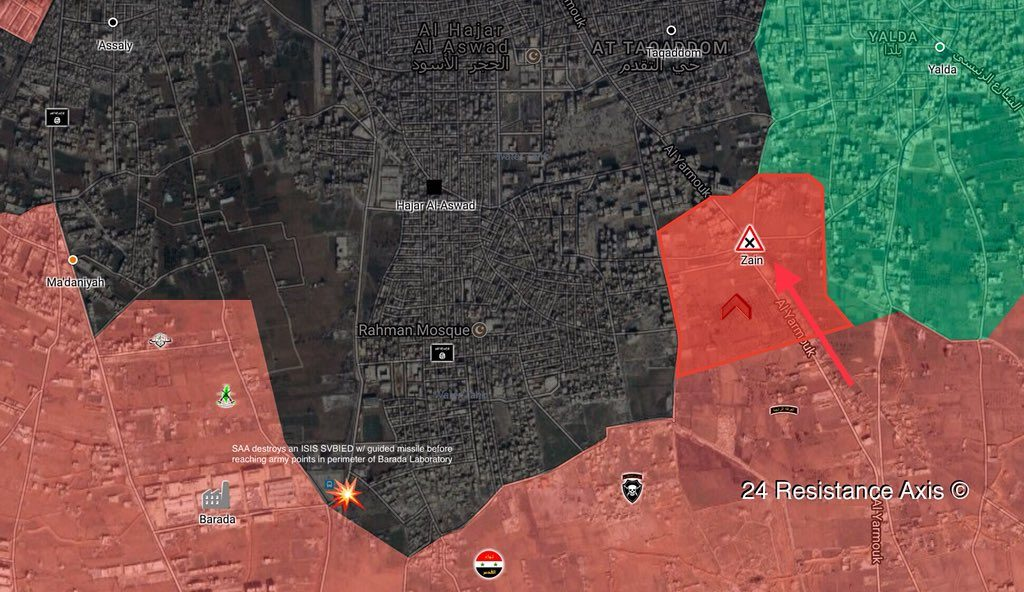 Government Forces Pressure ISIS In Southern And Northern Parts Of Yarmouk Refugee Camp Pocket (Maps)