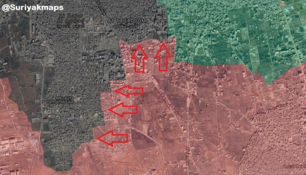 In Maps And Videos: Battle For Yarmouk Refugee Camp Area In Southern Damascus