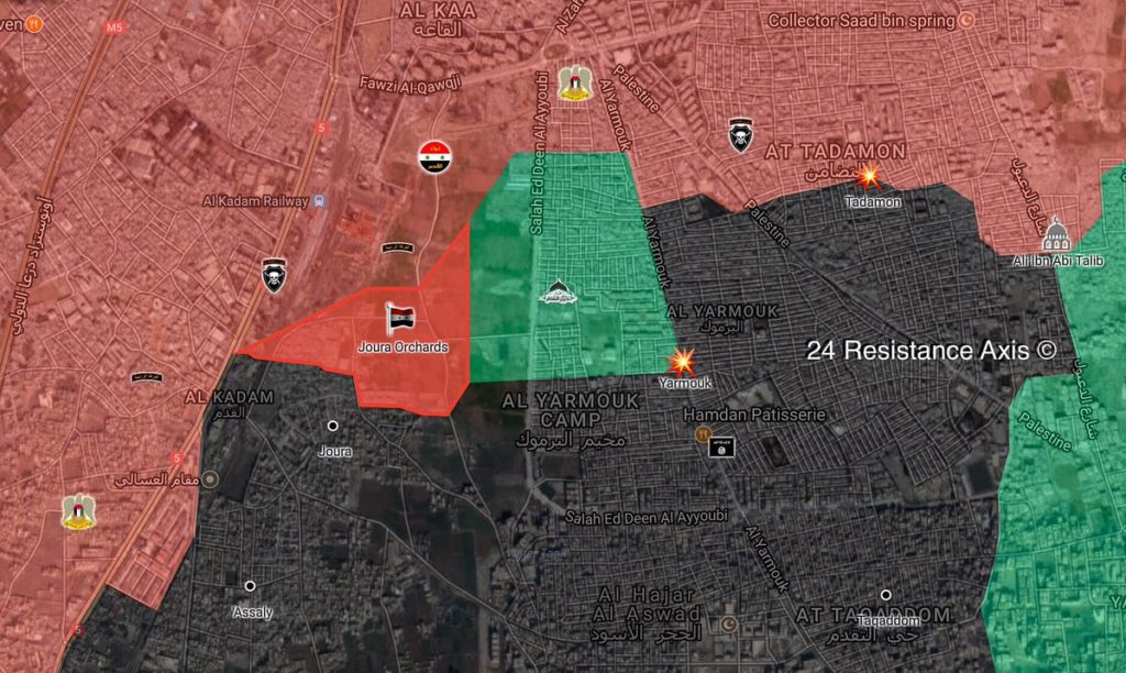 Syrian Forces Liberate Joura Orchards In Southern Damascus From ISIS (Map)