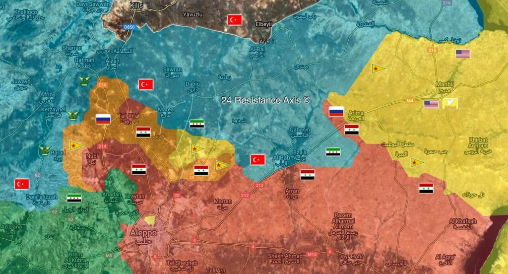 Map Update: Military Situation In Area Of Tell Rifaat In Northern Syria