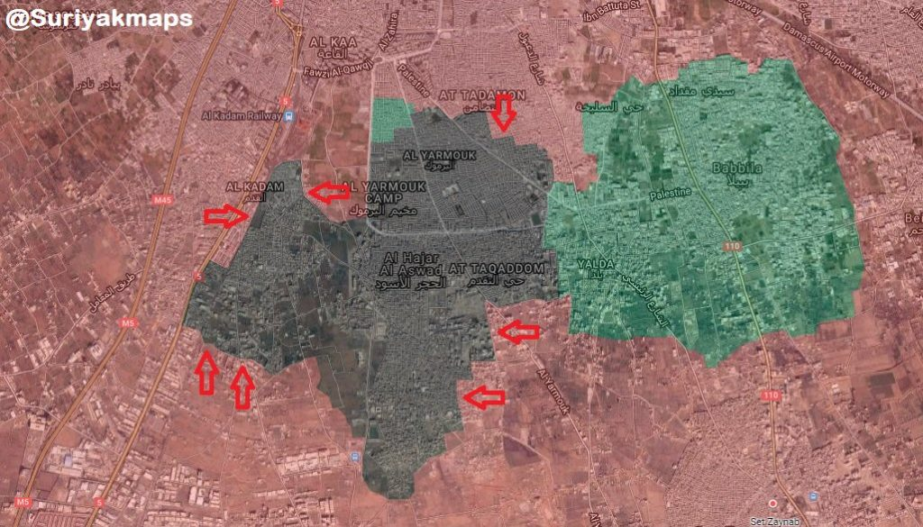 Progress Of Anti-ISIS Operation In Southern Damascus (Map, Photos, Videos)