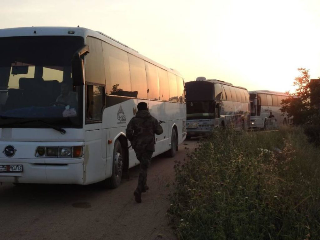 22 Buses Entered Kefraya and al-Fouaa To Evacuate First Batch Of People