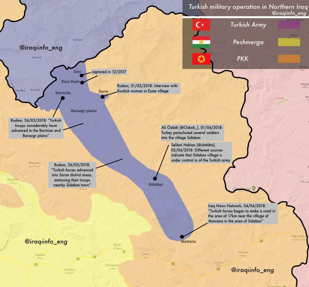 Turkish Forces Quietly Developing Their Ground Operation In Northern Iraq