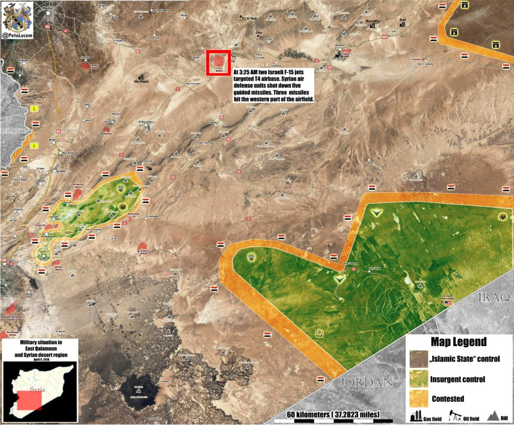 Map Update: Miltiary Situation In Central Syria After Israeli Attack On T4 Airbase