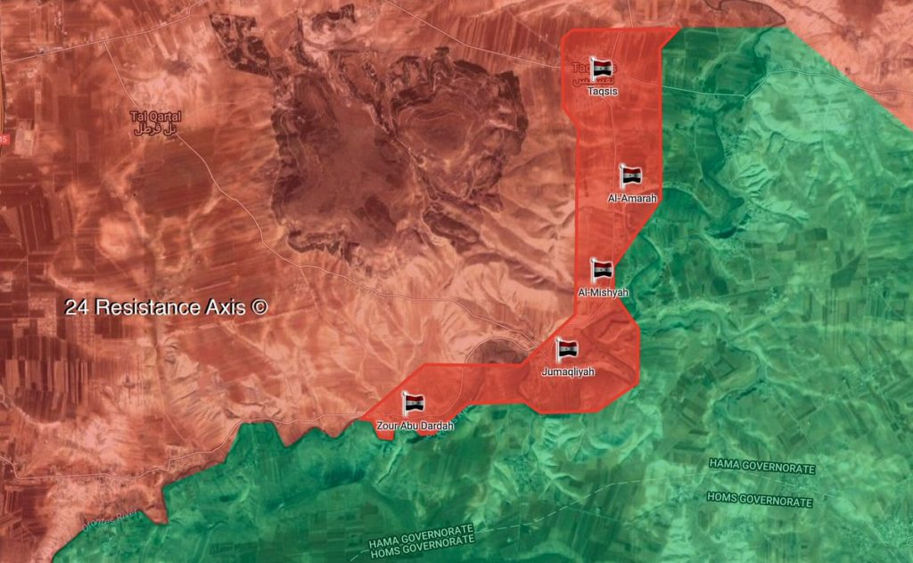 Map Update: Government Forces Establish Control Of 5 Settlements In Rastan Pocket