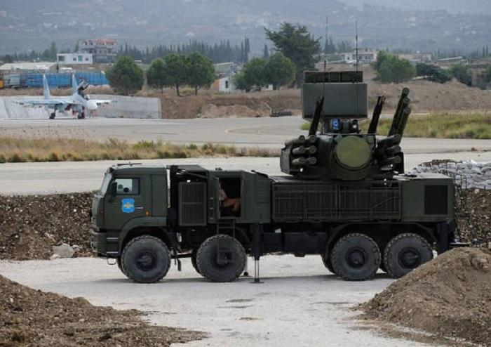Russian Air Defense Systems Intercept Aerial Objects Over Hmeimim