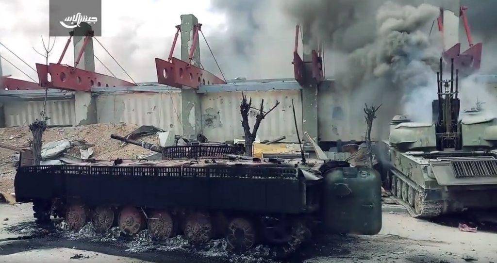 Photos, Video: Military Equipment Burned By Jaish al-Islam Ahead Of Douma Withdrawal