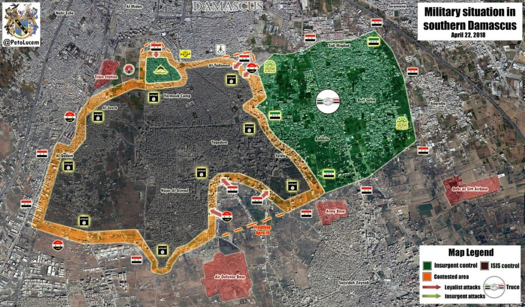 Map Update: Syrian Army's Advance Against ISIS In Southern Damascus