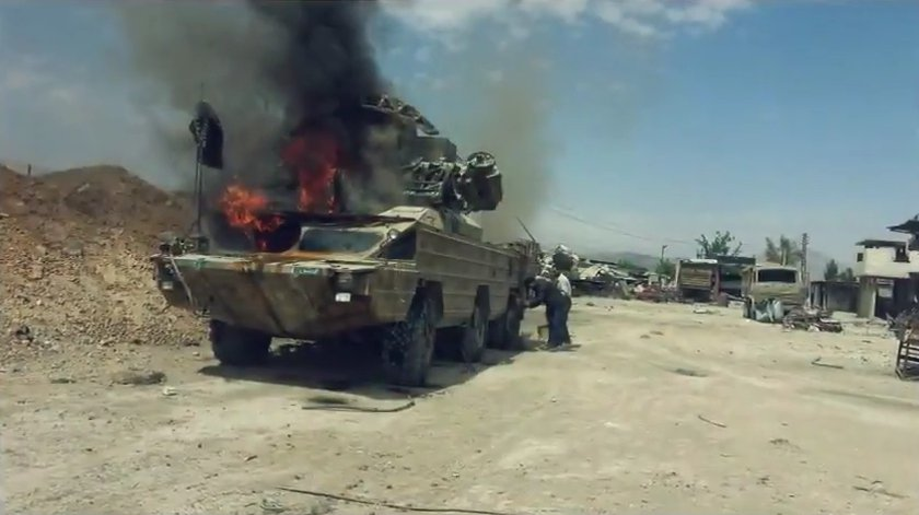 Photos, Video: Military Equipment Burned By Jaish al-Islam Ahead Of Douma Withdrawal