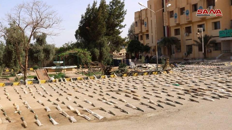 In Photos: Syrian Army Captures Large Number Of ISIS Weapons In Deir Ezzor Province
