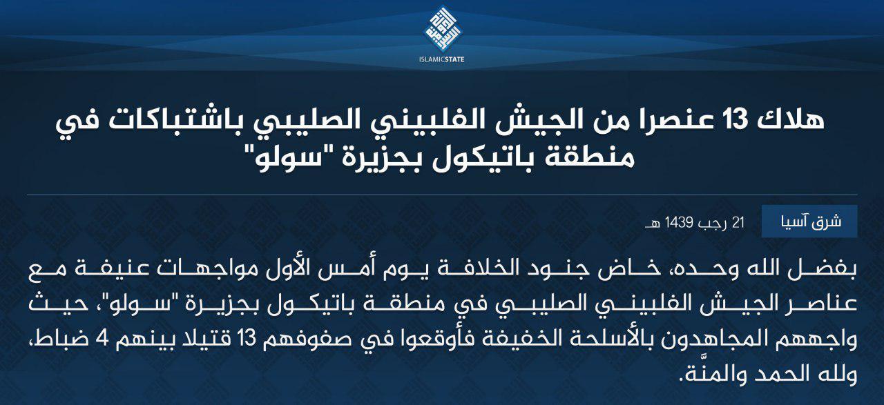 ISIS Militants Reportedly Killed Thirteen Philippine Servicemen