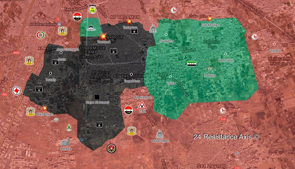 Syrian Army Makes Important Gains In Battle Against ISIS South Of Damascus