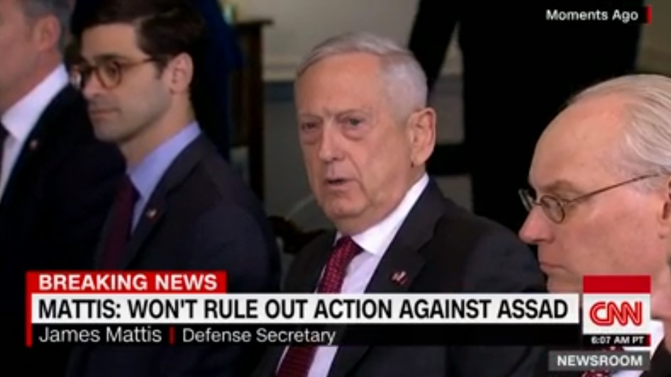 US Defense Secretary Does Not Rule Out Military Action Against Assad Government