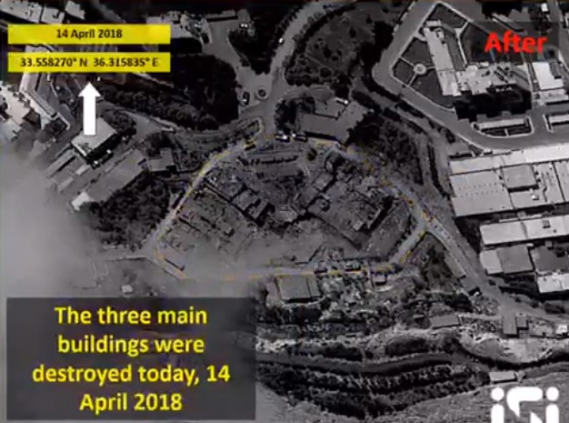 """Satellite Imagery Shows Aftermah Of """"76 Missiles"""" Strike On Syria's Barzeh Scientific Research Complex"""