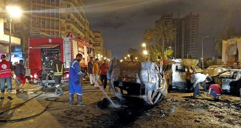 Booby-Trapped Car Targets Syrian Expo In Benghazi City (Photos)