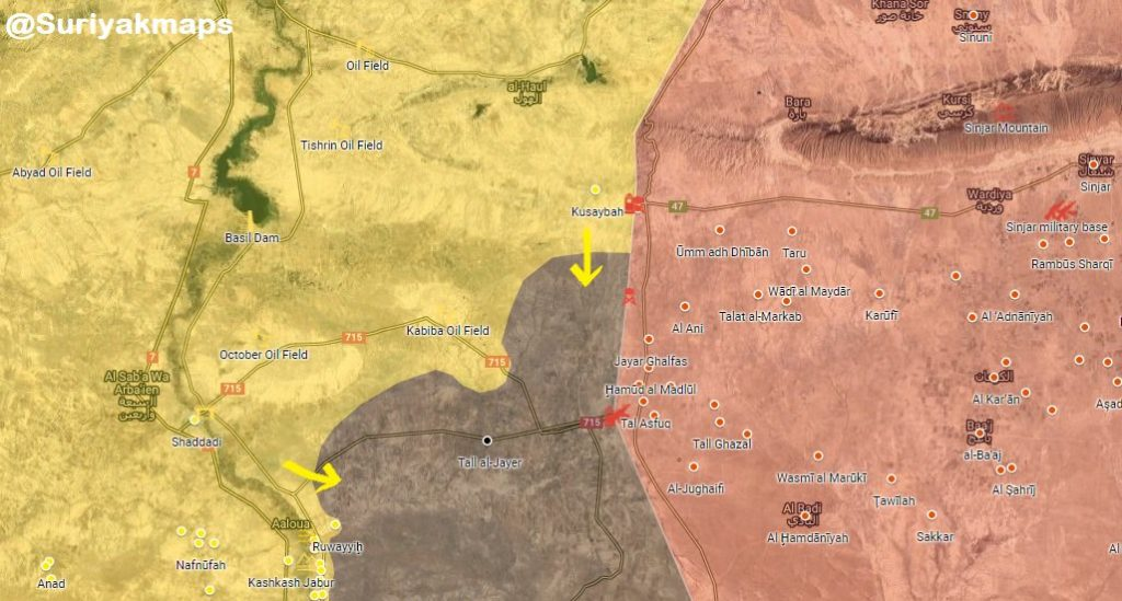 Maps: Military Situation In Deir Ezzor Countryside And Syrian-Iraqi Border Area