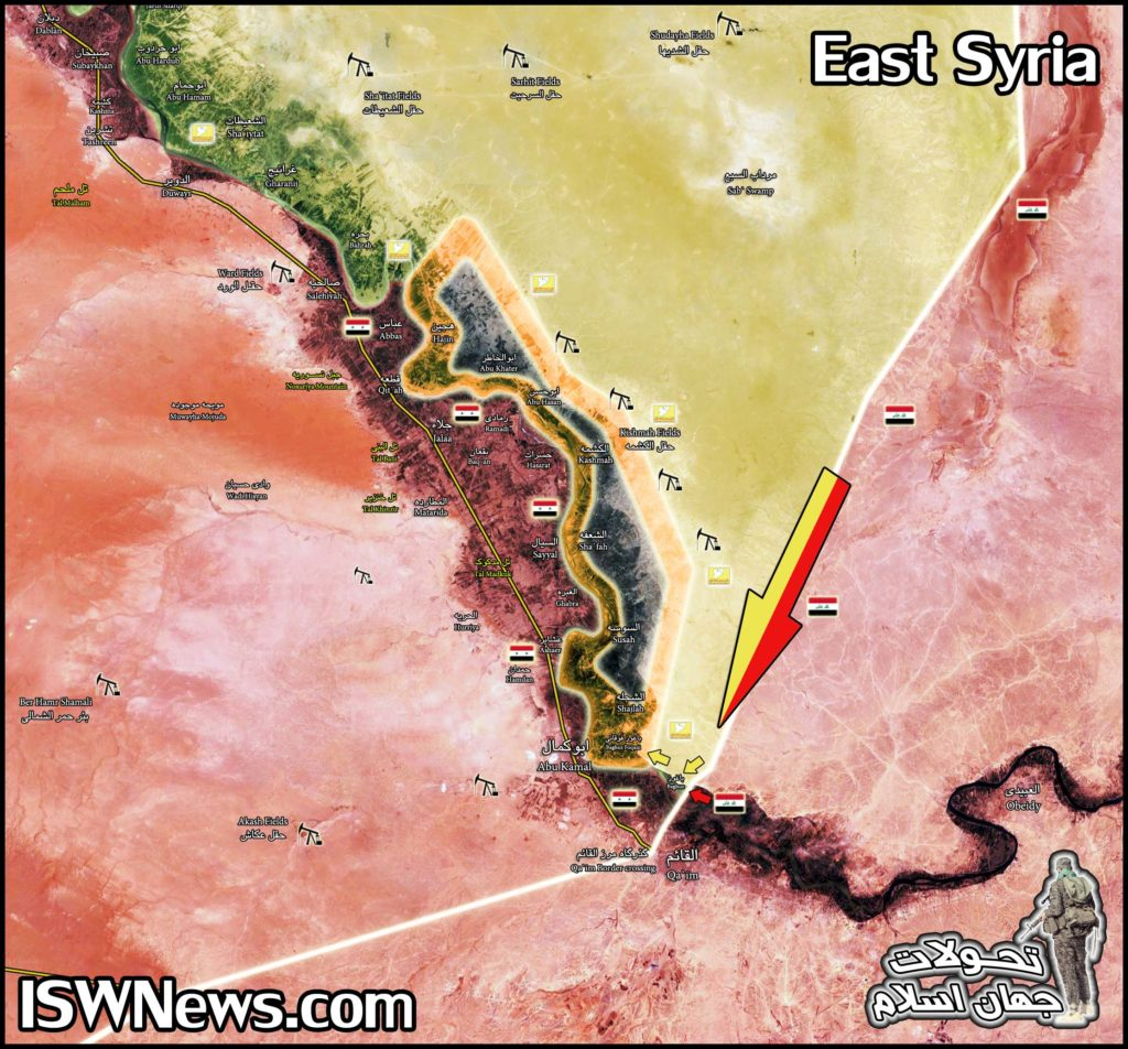 Map Update: US-backed Forces Advancing On Remaining ISIS Positions In Euphrates Valley