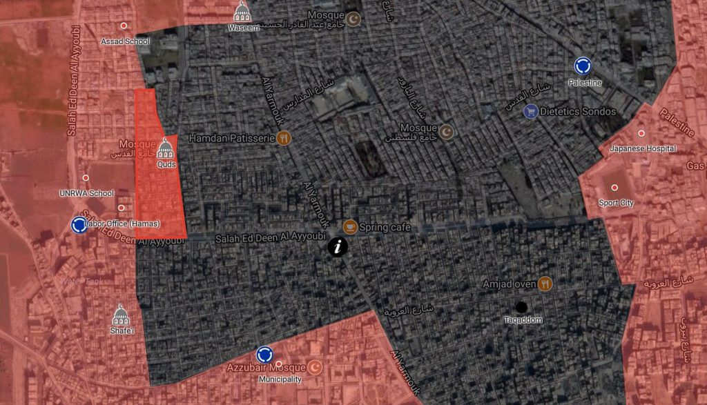 Syrian Army Liberates Quds Mosque In Yarmouk Refugee Camp Area In Southern Damascus (Map)