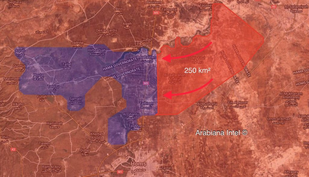 Map Update: Syrian Forces Establish Control Of About Half Of Rastan Pocket