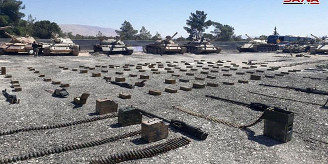 Syrian Forces Seize Large Number Of Battle Tanks, Weapons In Eastern Qalamoun (Photos)