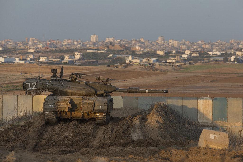 Israeli Battle Tanks And Jets Strike Multiple Targets In Gaza Strip