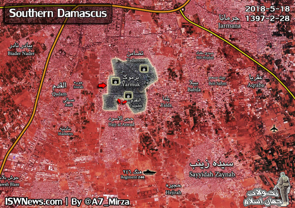 Overview Of Anti-ISIS Operation In Southern Damascus On May 19, 2018 (Videos, Maps)
