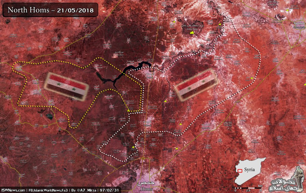 Map Update: Military Situation In Northern Homs Following Liberation Of Rastan Pocket