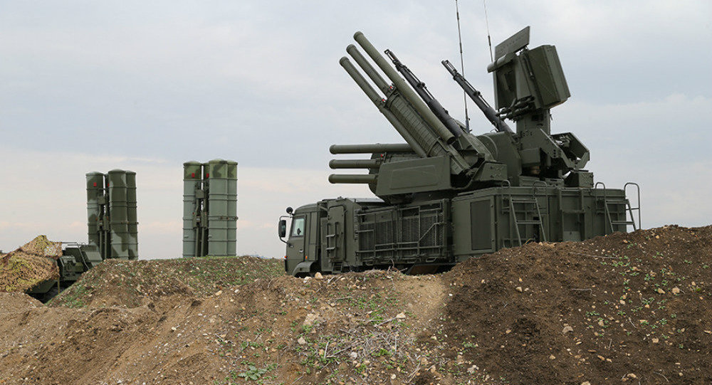 Russian Air Defense Systems Intercept Targets Over Khmeimim Air Base In Syria